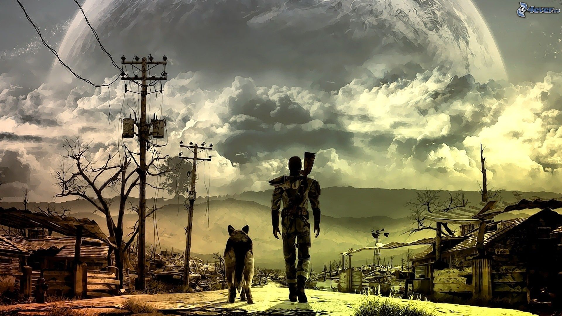 fallout-3-wasteland,-man-with-dog-202853